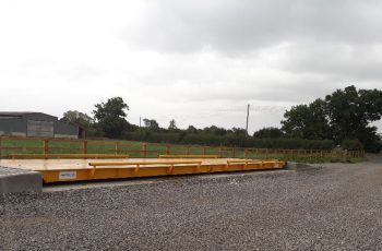 Surface Mounted Weighbridge on site